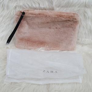 Zara Faux Fur Clutch NWOT